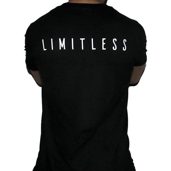 Fitted Cotton Black Men T-Shirt Back