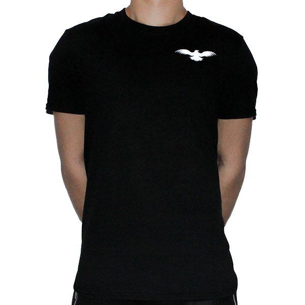 Fitted Cotton Black Men T-Shirt Front