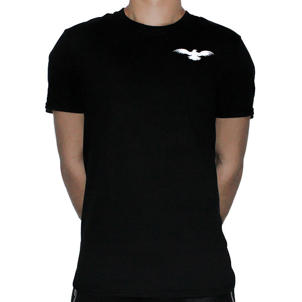 Fitted Cotton Black Men T-Shirt Front