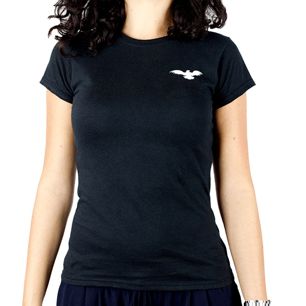 Fitted Cotton Black Women T-Shirt Front