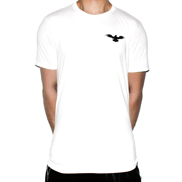 Fitted Cotton White Men T-Shirt Front