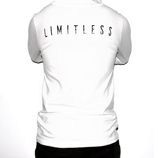 Lightweight Long-Sleeved White Limitless Hoodie Men Back