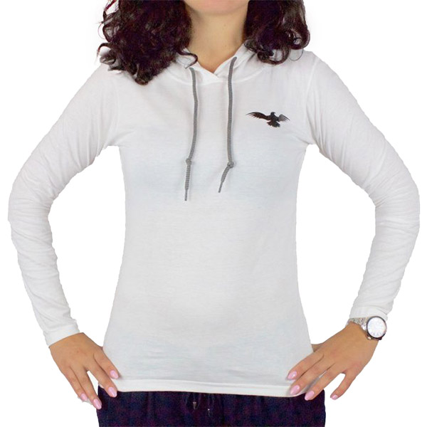 Lightweight Long-Sleeved White Limitless Hoodie Women Front